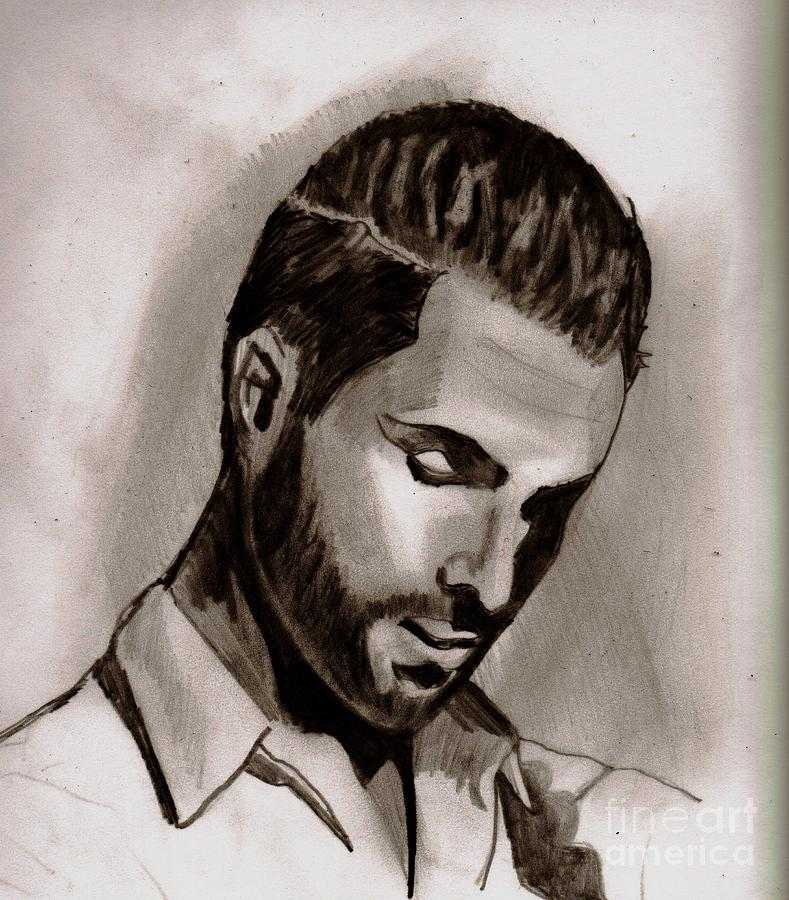 Adam Levine Drawing by Timothy Fleming