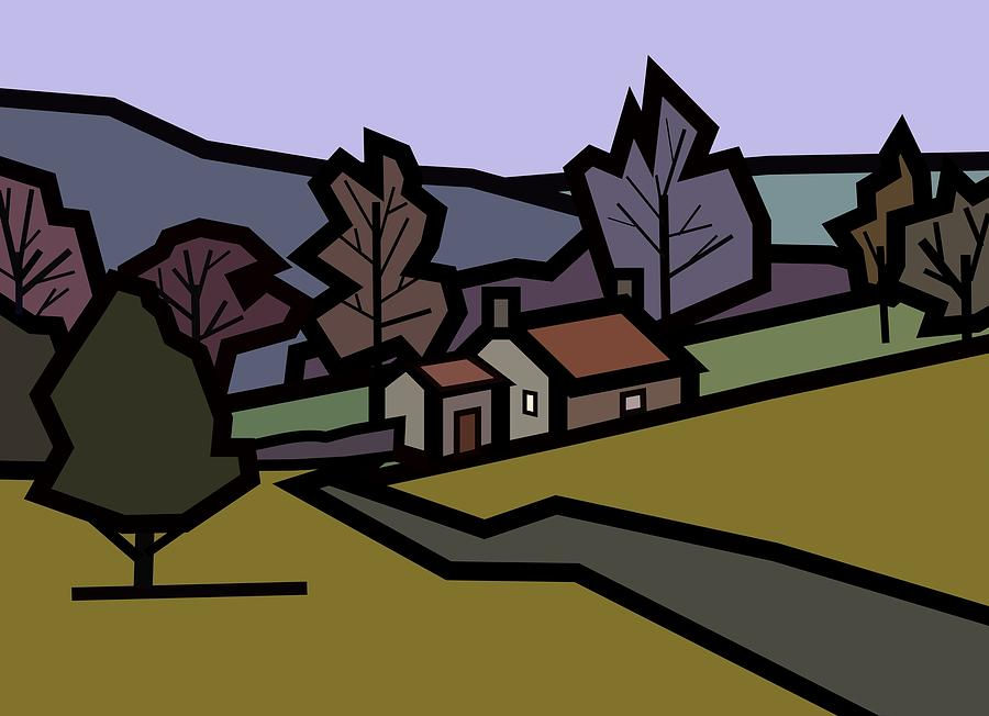Farm Painting - Adams Farm by Kenneth North