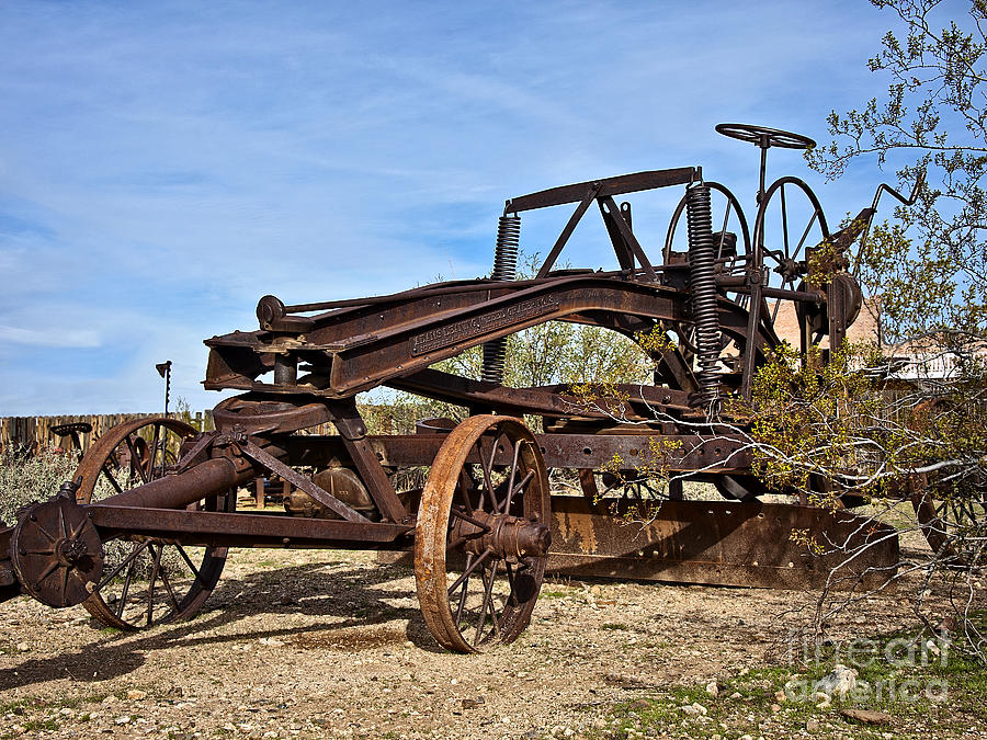 Equipment Photograph - Adams Leaning Wheel Grader Number 8 by Lee Craig