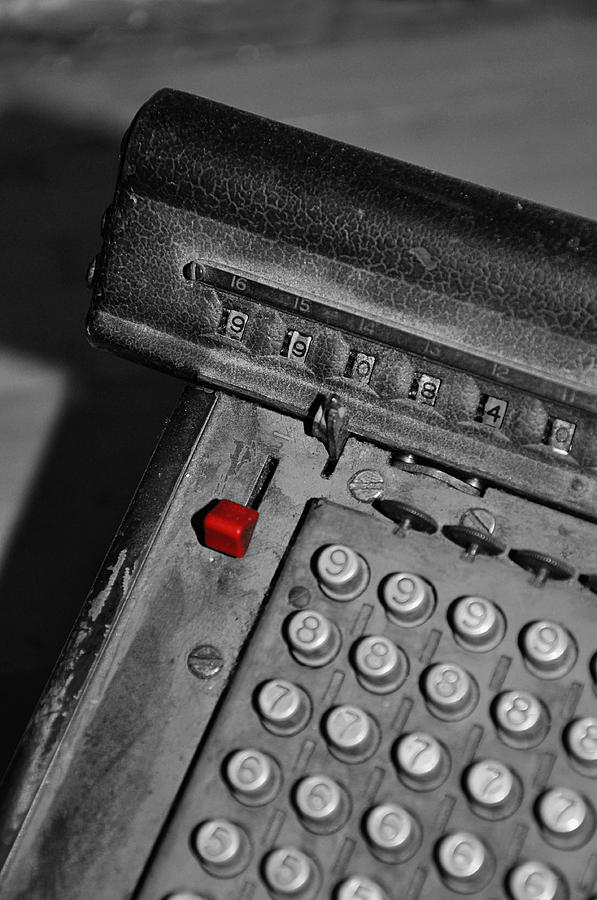 Office Photograph - Adding Machine Three by Todd Hartzo
