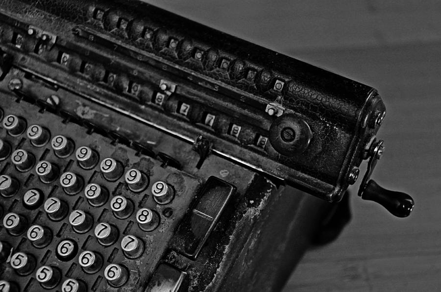 Office Photograph - Adding Machine Two by Todd Hartzo
