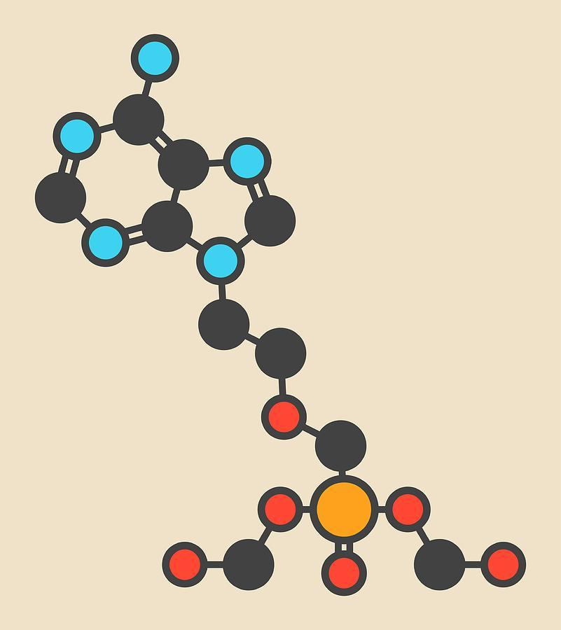Prodrug Photograph - Adefovir Antiviral Drug Molecule by Molekuul