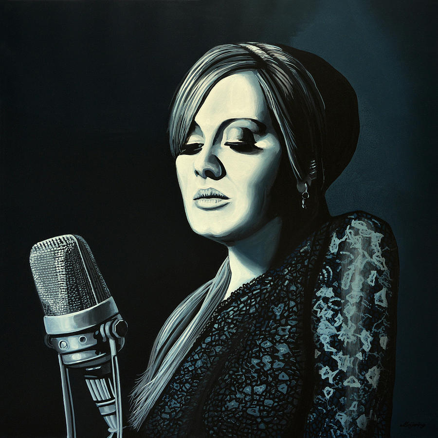 Adele Painting - Adele 2 by Paul Meijering