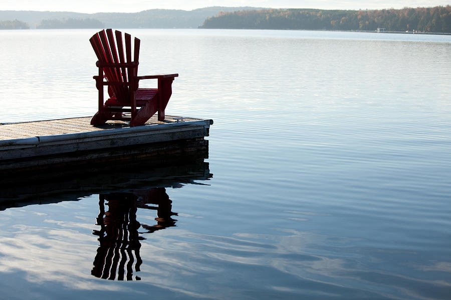 Adirondack Chair By A Lake by ImagineGolf