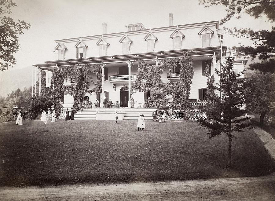1889 Photograph - Adirondack Hotel, 1889 by Granger