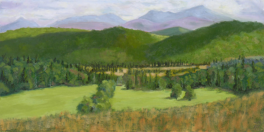 Adirondack Mountains Painting by Robert P Hedden