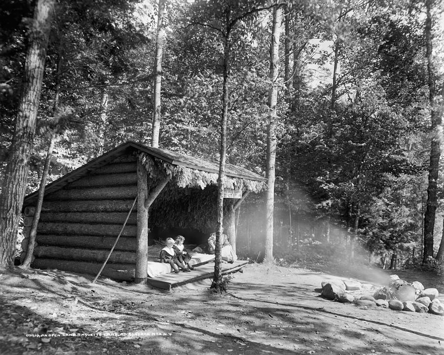 1909 Painting - Adirondacks Cabin, C1909 by Granger