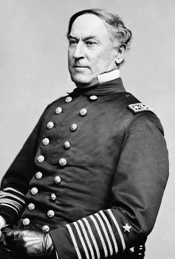 Admiral Farragut Photograph - Admiral David Farragut by War Is Hell Store