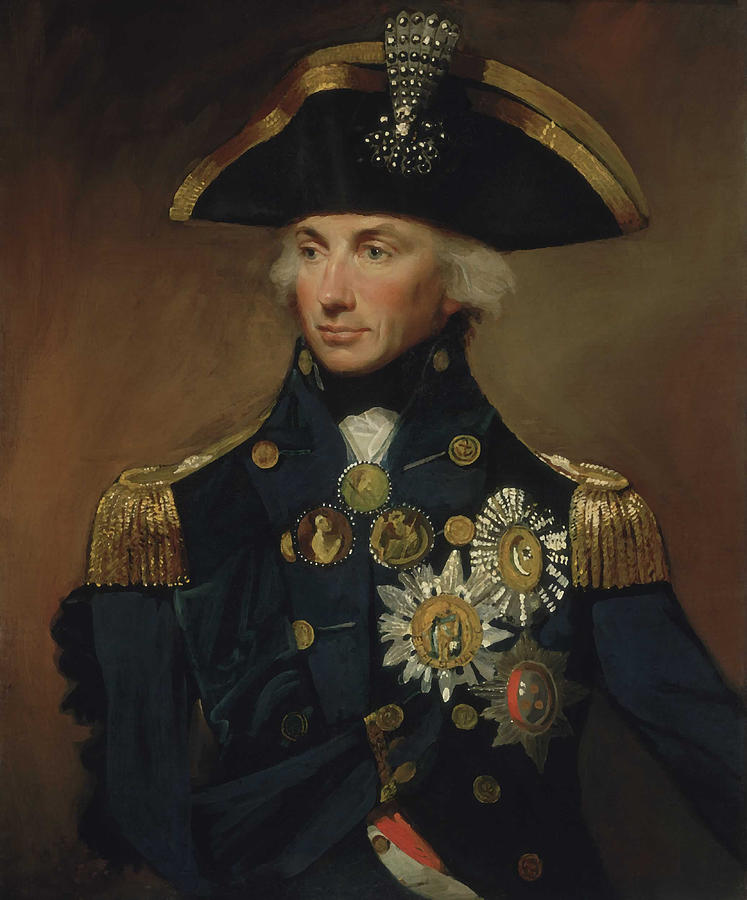 Horatio Nelson Painting - Admiral Horatio Nelson by War Is Hell Store