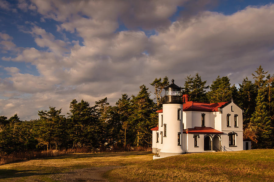 Admiralty Head Photograph - Admiralty Head Lighthouse by Dan Mihai