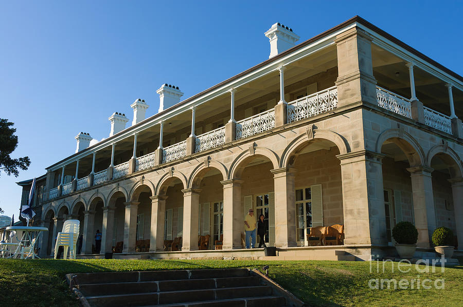 Admiralty House Photograph - Admiralty House - Official Sydney Residence Of The Governor-general Of Australia by David Hill