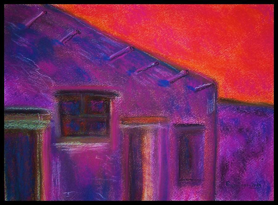 Hacienda Painting - Adobe Hacienda by Peggy Leyva Conley