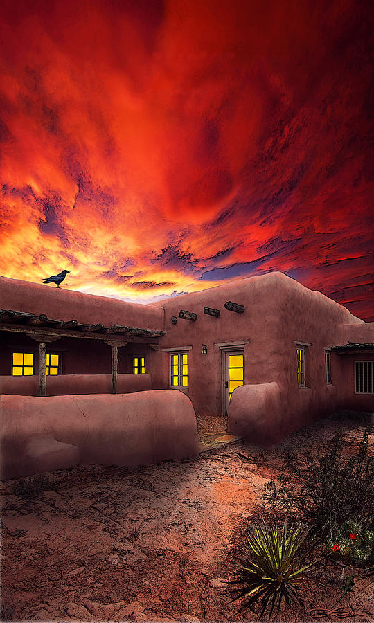 Adobe House Photograph - Adobe Sunset by Ric Soulen