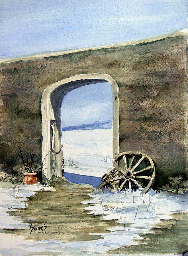 Gate Painting - Adobe Wall by Sam Sidders