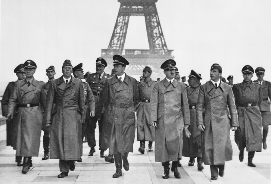 History Photograph - Adolf Hitler Touring Conquered Paris by Everett