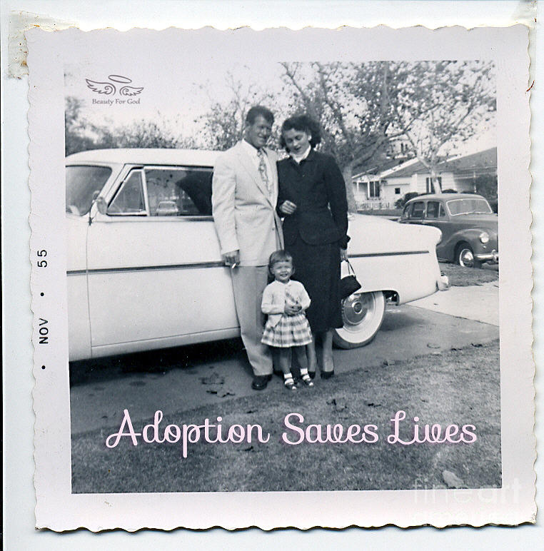 Inspiration Photograph - Adoption Saves Lives by Beauty For God