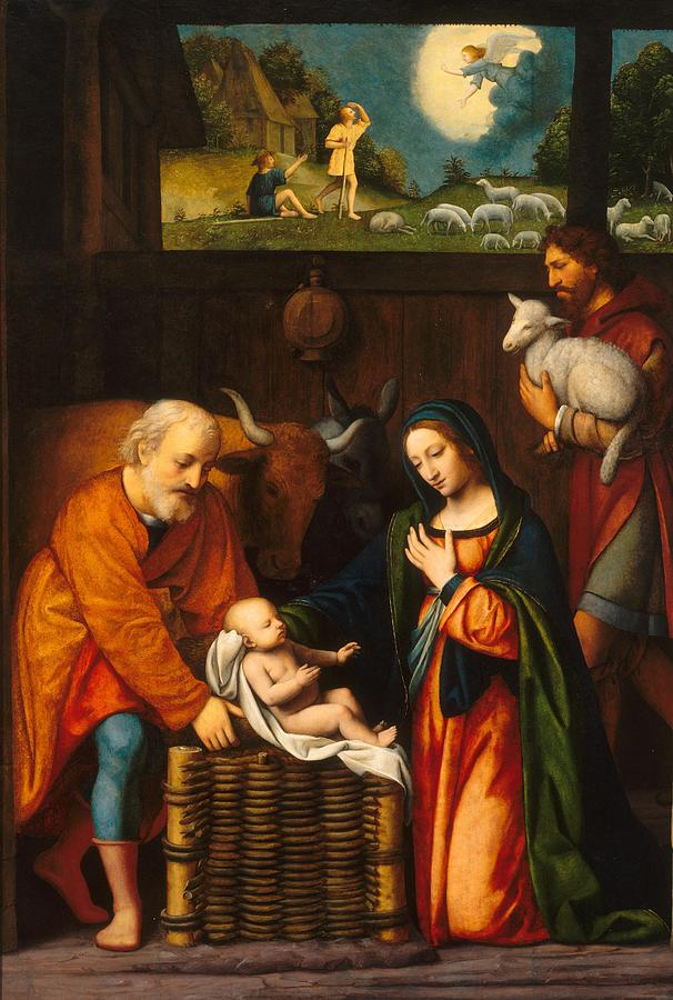 Jesus Christ Painting - Adoration Of The Christ Child  by Celestial Images