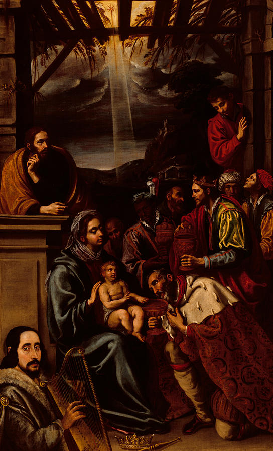 The Nativity Painting - Adoration Of The Magi by Unknown