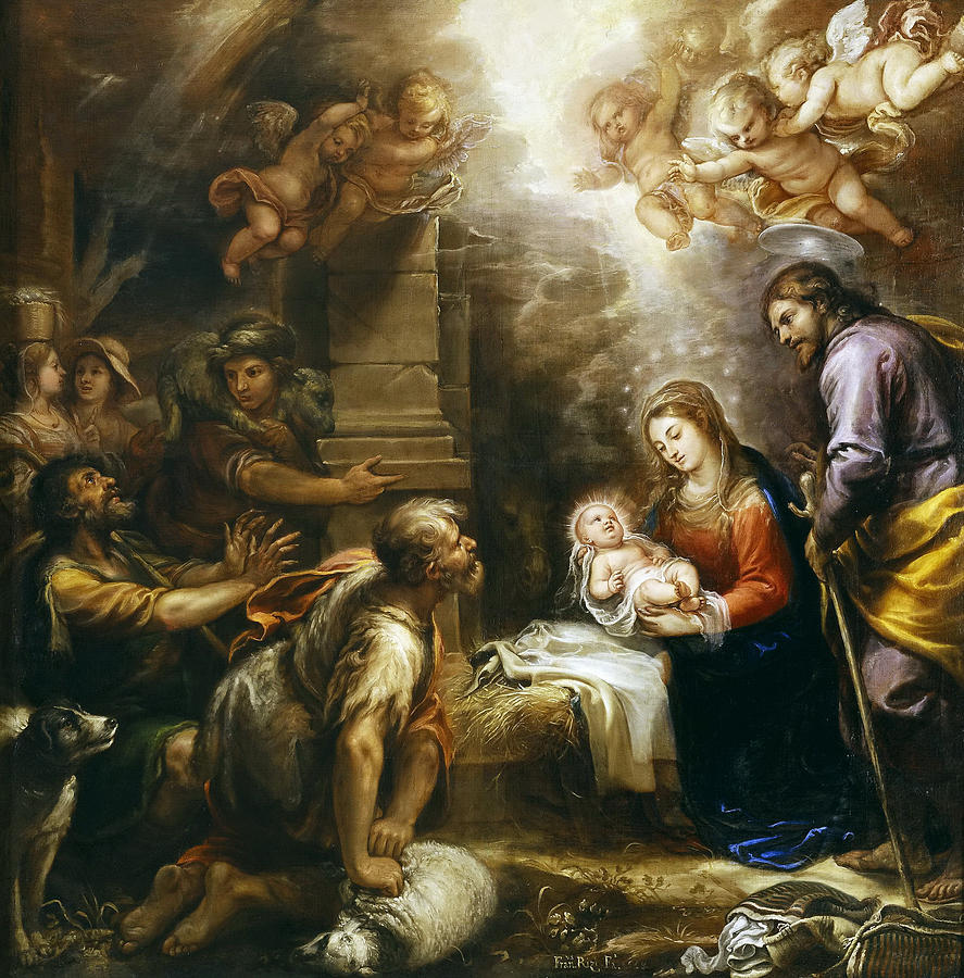 Adoration Of The Shepherds Painting By Francisco Rizi