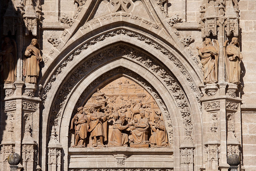 Seville Photograph - Adoration Of The Three Wise Men Relief by Artur Bogacki