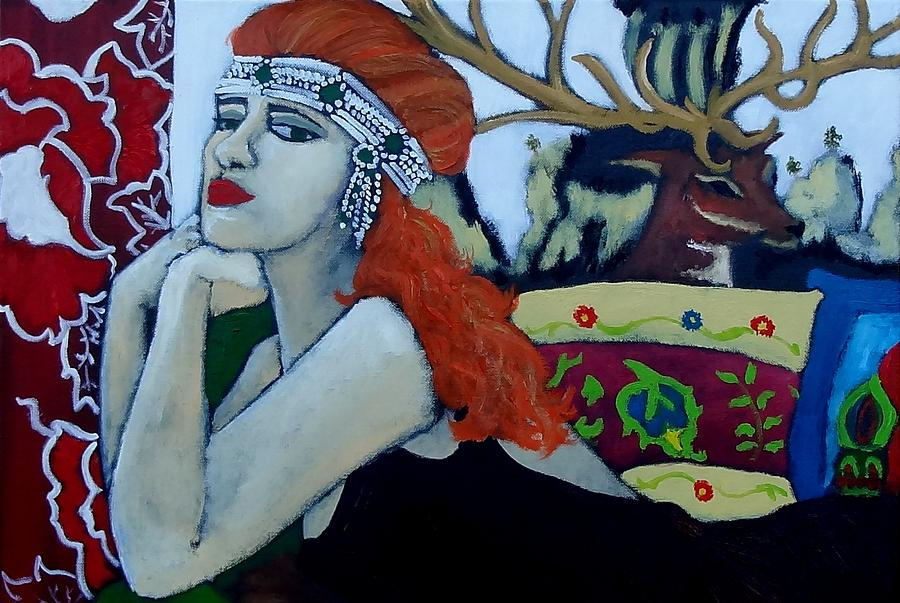 Figurative Painting - Adornment by Terri Jordan