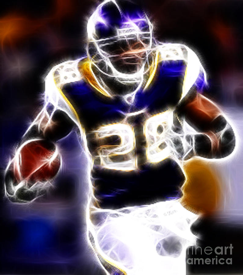 Adrian Peterson Photograph - Adrian Peterson 01 - Football - Fantasy by Paul Ward