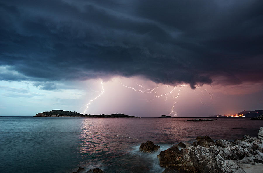 Adriatic Lightning Photograph by Image By Chris Winsor