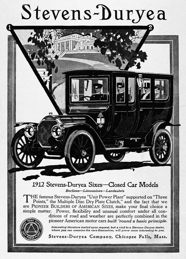 1912 Painting - Ads Automobile, 1912 by Granger