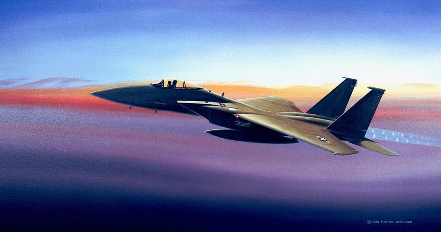 Mcdonnell Douglas Painting - Advantage Eagle by Michael Swanson