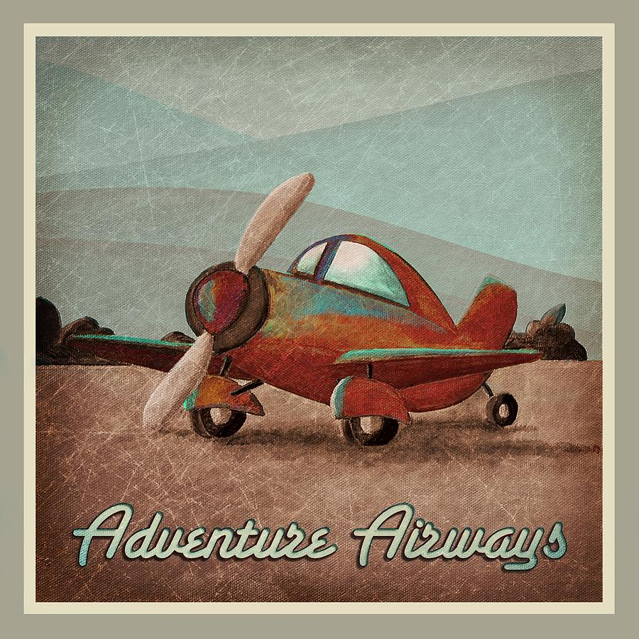 Plane Painting - Adventure Air by Cindy Thornton