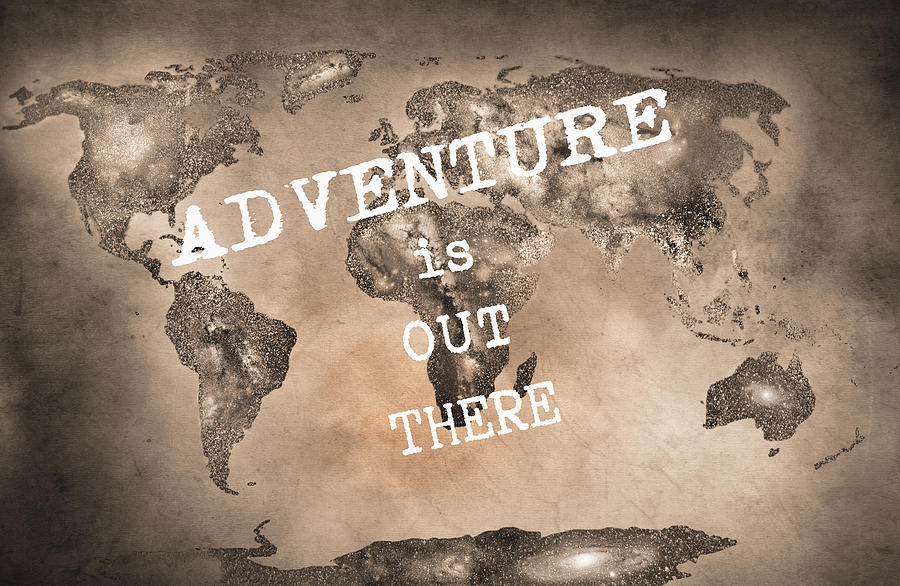 Adventure is out there stars world map sepia photograph by guido sepia photograph adventure is out there stars world map sepia by guido montanes castillo gumiabroncs Image collections