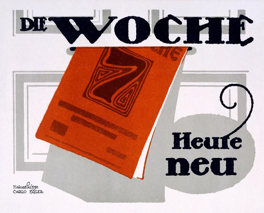 The Week Drawing - Advert For Die Woche by Carlo Egler
