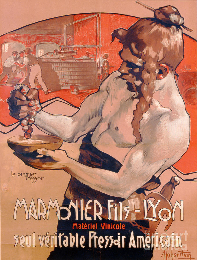 Vintage Poster Painting - Advertisemet For Marmonier Fils Lyon by Adolfo Hohenstein