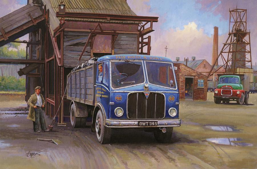 Lorry Painting - Aec Mercury Tipper. by Mike  Jeffries