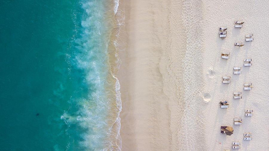 Aerial beach view Photograph by Carlos Sanchez Pereyra