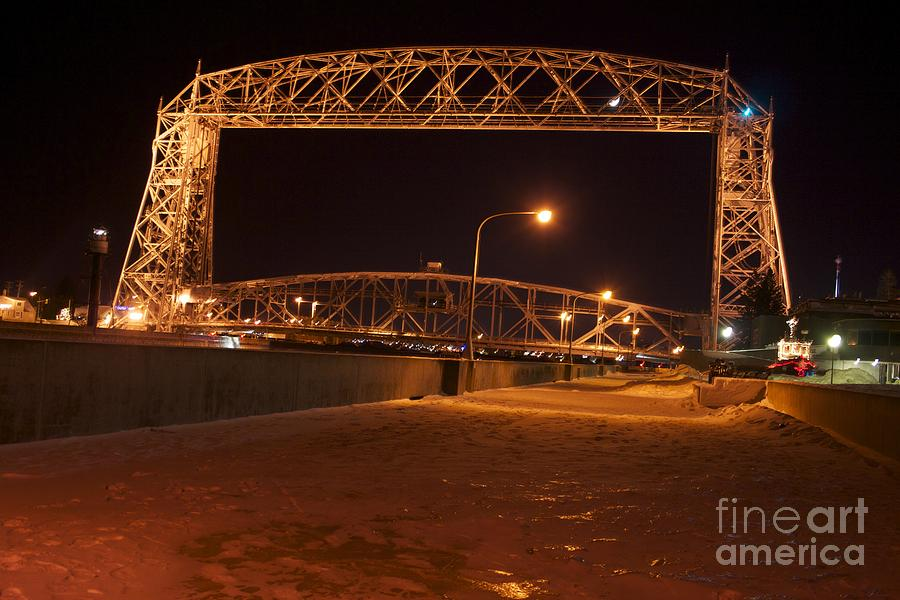 Lift Bridge Photograph - Aerial Lift Bridge by Kevin Jack
