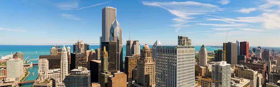 Aerial Panoramic View Of Chicago And Photograph by Chrisp0