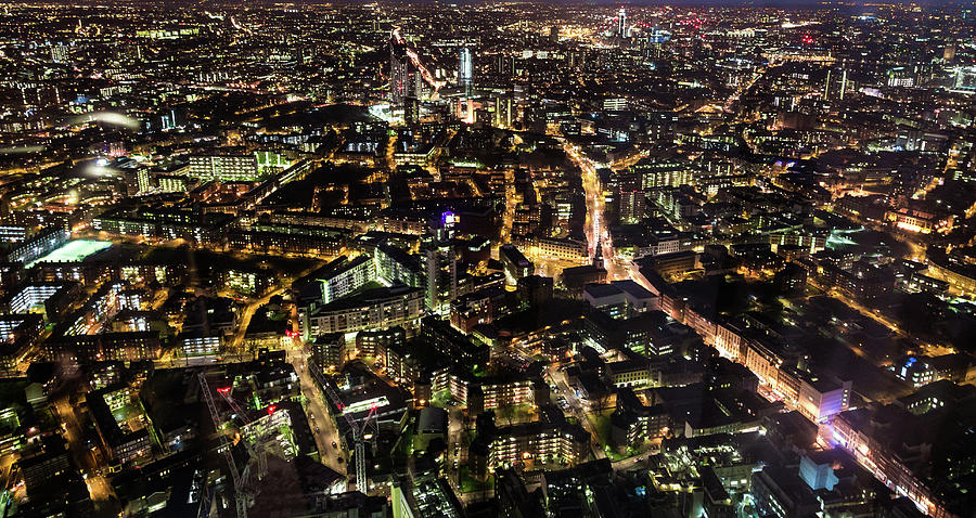 Aerial Panoramic View Of London Photograph by Coldsnowstorm