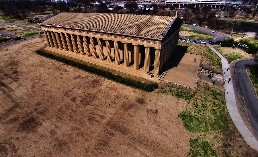 The Parthenon Photograph - Aerial Photography Of The Parthenon by Dan Sproul
