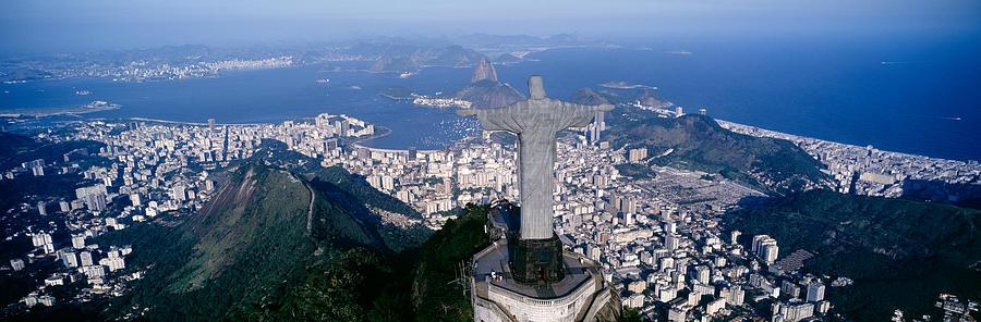 Color Image Photograph - Aerial, Rio De Janeiro, Brazil by Panoramic Images
