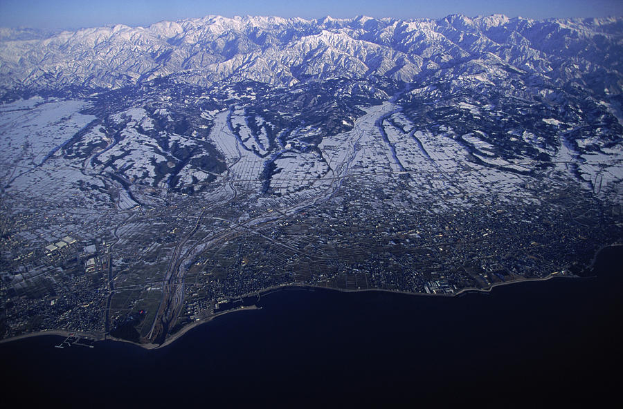 Aerial Shot Of The Japans Alps Kurobe Photograph By Peter Essick
