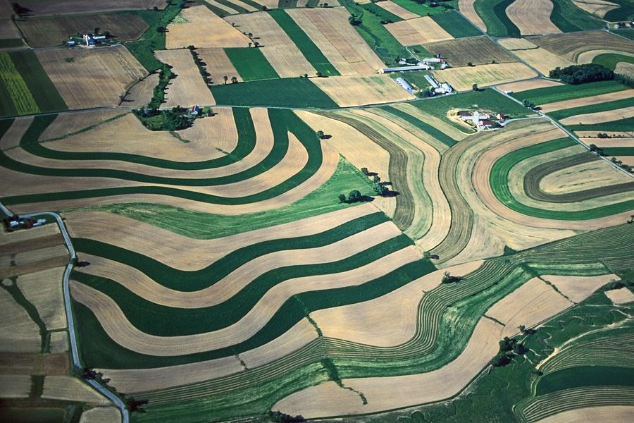 Art Designs From The Air Photograph - Aerial Tapestry by Blair Seitz