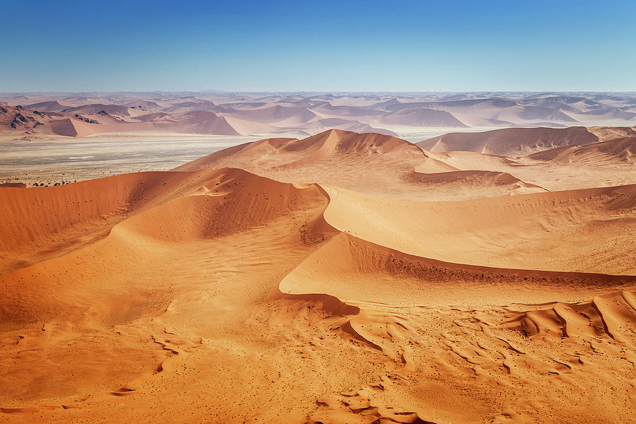 Aerial View, Africa Namib Desert Photograph by Mlenny