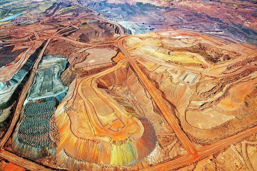 Aerial View, Iron Ore Mine, Mount Photograph by John W Banagan