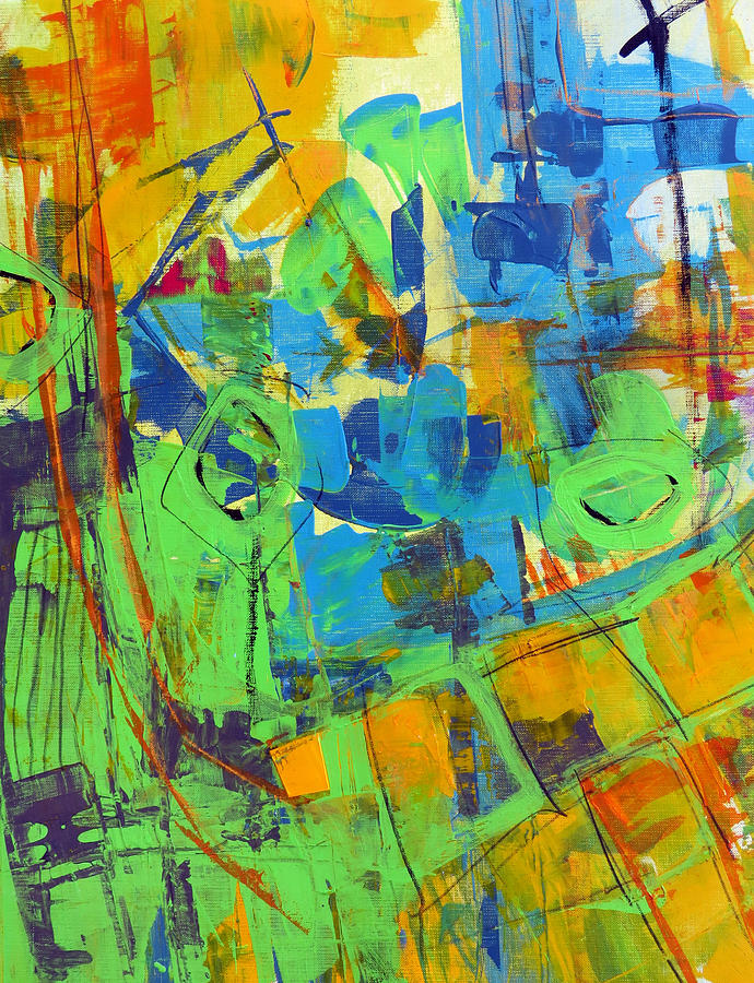 Katie Painting - Aerial View by Katie Black