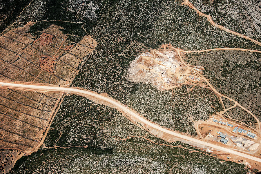 Aerial View Of A Gravel Mine Photograph by Omersukrugoksu