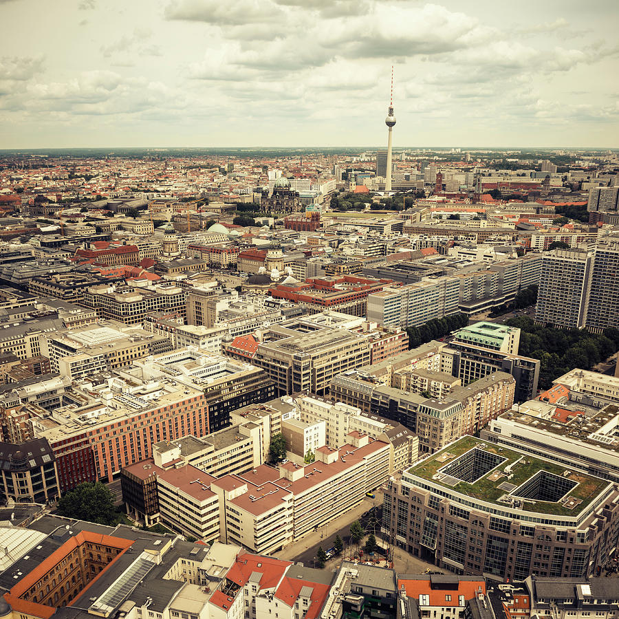 Aerial View Of Berlin With Photograph by Franckreporter