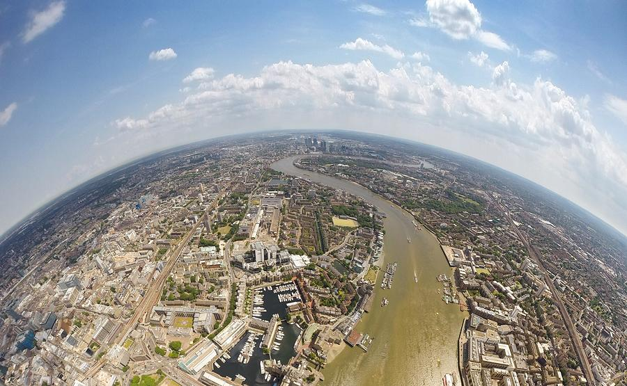 Aerial View Of City, London, England, Uk Photograph by Mattscutt