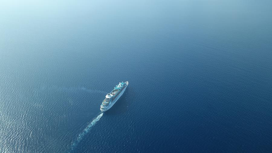 Aerial View Of Cruise Ship Sailing On Sea Photograph by Daniel Piraino / EyeEm