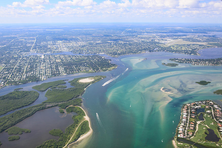 Aerial View of Eastern South Florida Coastline Photograph by Crystal Bolin Photography